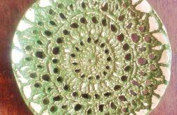 koronkowa mydelniczka w zieleni