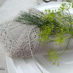 Serweta lnian z koronka naturalna