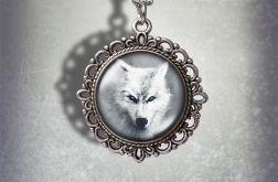 Medalion Biały wilk - Mystical Guide - zdobiony