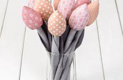 TULIPANY, szaro pastelowo różowowy bukiet