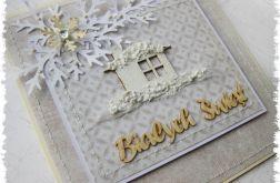 Kartka świąteczna z domkiem