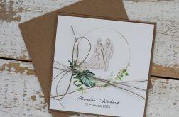 Kartka ślubna z kopertą - życzenia i personalizacja 1j