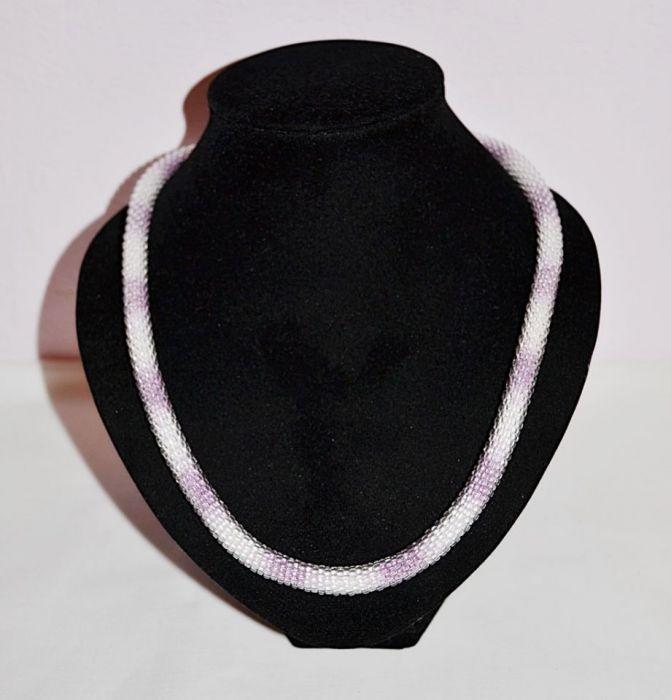 Naszyjnik cieniowany fiolet -