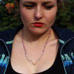 Naszyjnik ze spinaczy - kolorowy