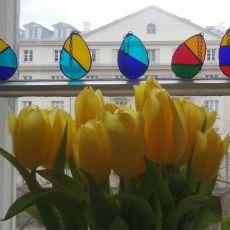 Zawieszki szklane jajka wielkanocne