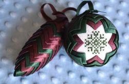 Karczoch szyszka i bombka z haftem