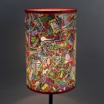 Kolorowa inspirująca lampa nIEŁUKIŁAMIE M - Inspirujący wzór