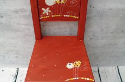 krzesełko z oparciem czerwone