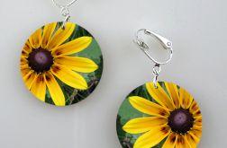 Żółte kwiaty - klipsy