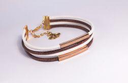 Bransoletka ze sznurków z zawieszką
