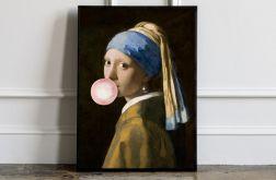 Obraz płótno portret z balonem 70x100 cm