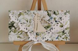 Kartka ślubna kopertówka kopertowa floral X para