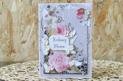 Kochanej Mamie - kartka ukwiecona