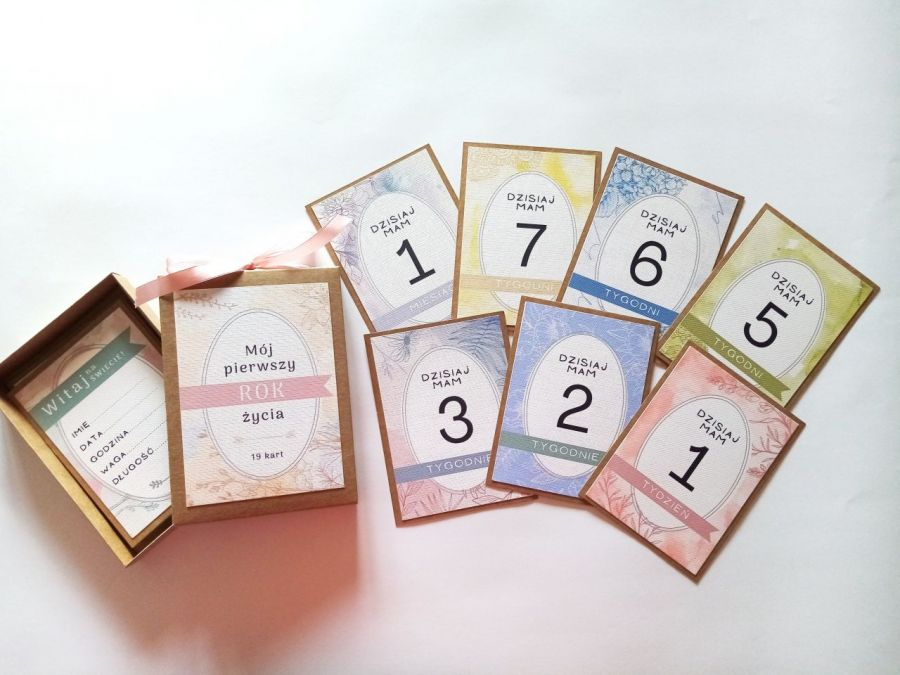 karty do zdjęć - kolorowy zestaw  - Karty 04