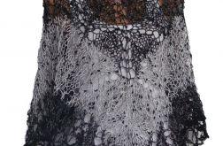 czarno-biały melanż