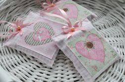 Romantyczna saszetka z lawendą (różowe serduszko)