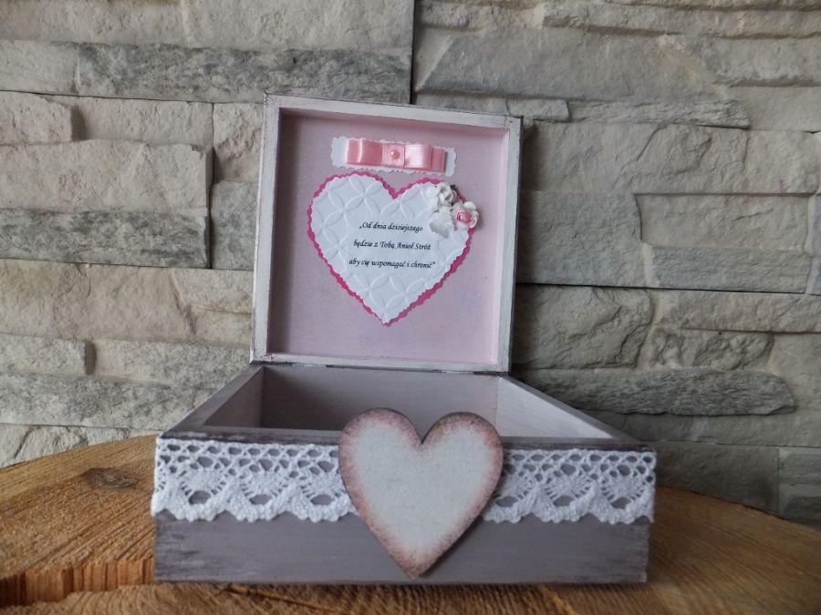 Pudełko pamiątka Komunii, Chrztu, Narodzin