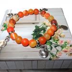 Bransoletka Bohemian – Pomarańczowy Agat