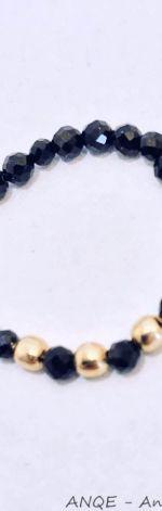 Pierścionek elastyczny Spinel czarny model 3
