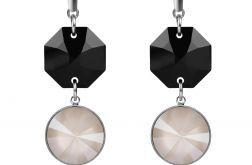 Kolczyki z czarnymi kryształami