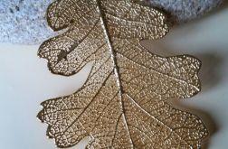Listek debu zwyczajnegozlocie 18kt -naszyjnik