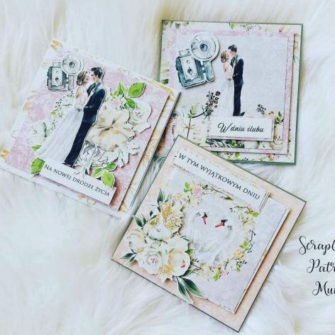 Kartka ślubna romantyczna