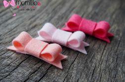 Momilio * spineczki filcowe kokardki