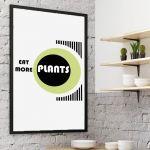 Plakat Eat more plants -