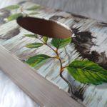 chustecznik z korą brzozy - widok z góry