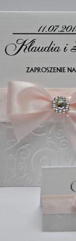 Piękne perłowe zaproszenia ślubne