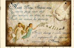 Zawieszka obrazek Anioł Sróż Modlitwa Cytaty Prezent
