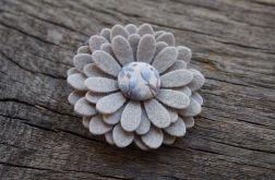 BLUE Spinka do włosów kwiatek
