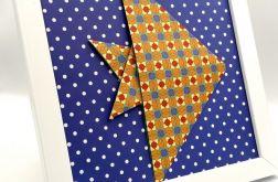 Obrazek origami ścienny / do postawienia Ryba