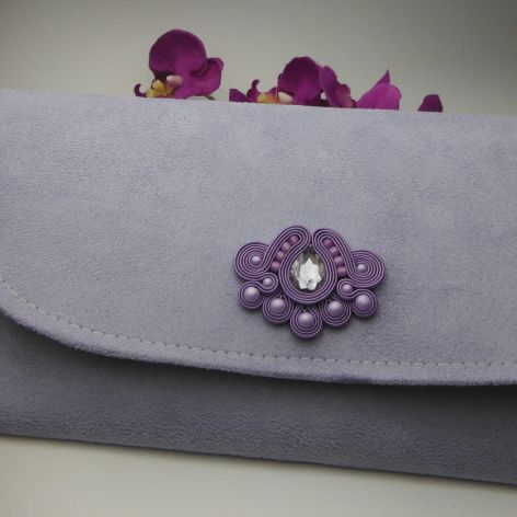 Torebka fioletowa sutasz liliowa lawendowa