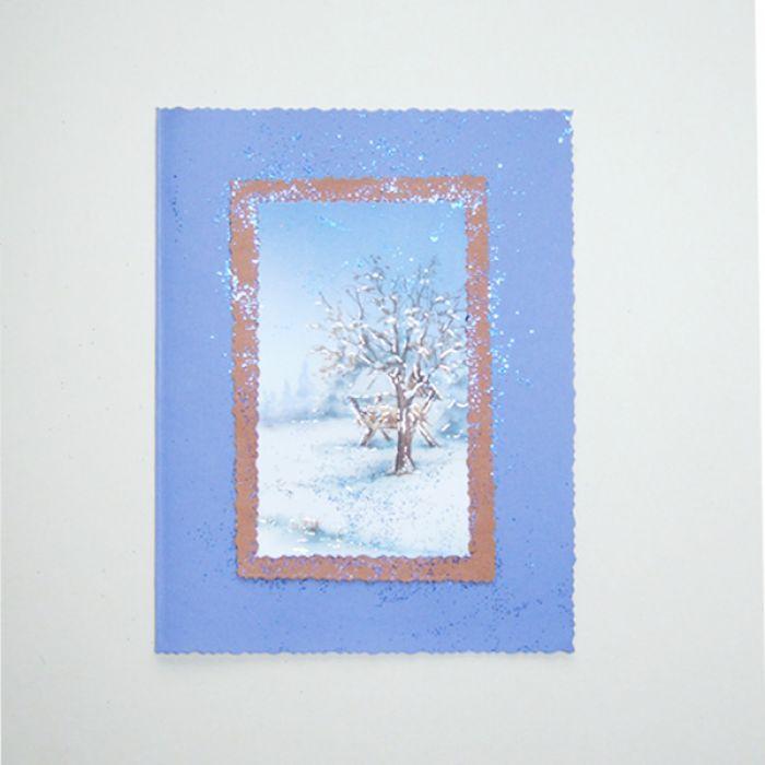 Kartka zimowy pejzażyk nr 3