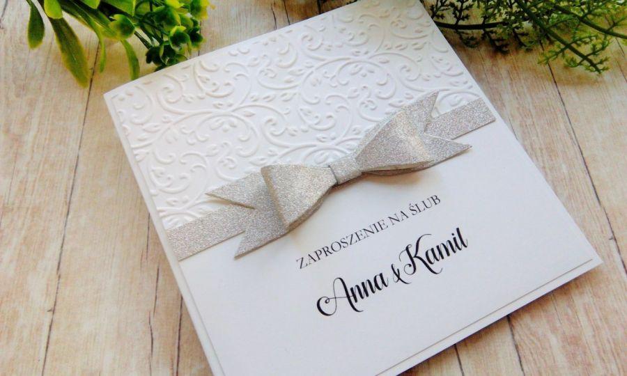 Zaproszenia ślubne z brokatem
