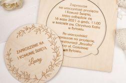 Zaproszenie na komunię - drewno II
