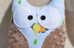 Przytulanka błękitno-brązowa sowa