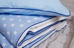 Pościel dziecięca 100x135 cm, błękitna w gwiazdki.