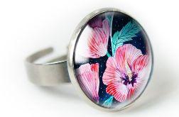 Hibiskus pierścionek z ilustracją