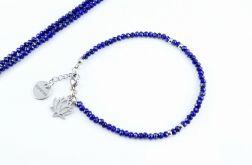 Bransoletka Lapis lazuli 3 mm + pudełko