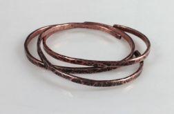 Komplet 3 miedzianych bransoletek 190811-01
