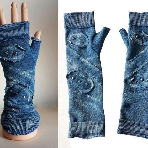 Rękawiczki niebieskie, ćwieki