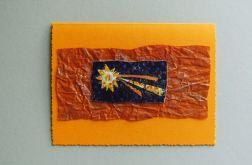 Kartka oranż -gwiazda betlejemska nr 3