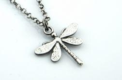 Ważka - srebrny łańcuszek z wisiorkiem