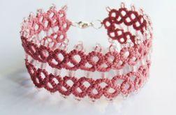 Pudrowy róż - bransoletka