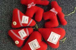 Czerwony zestaw na choinkę-6 szt.