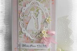 Pamiątka ślubna z Młodą Parą różowa
