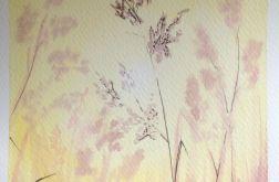 Obraz akwarela poranek wiosna natura art deco