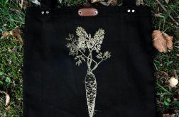 Marchew - czarna torba bawełniana